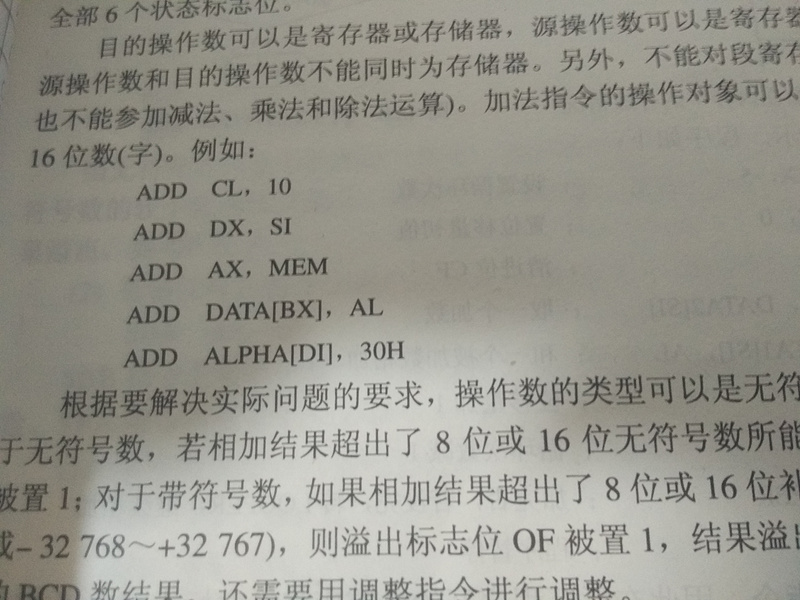 What does data, alpha mean in Intel assembly instructions?