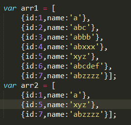 Js implements the deduplication of two arrays (one array is contained in the other array)