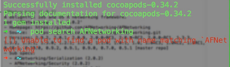 This problem occurred when cocoaPods was installed.