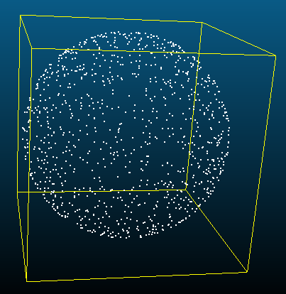 The algorithm is to take random n uniform points (or points with spacing not less than a certain distance) on the spherical surface.