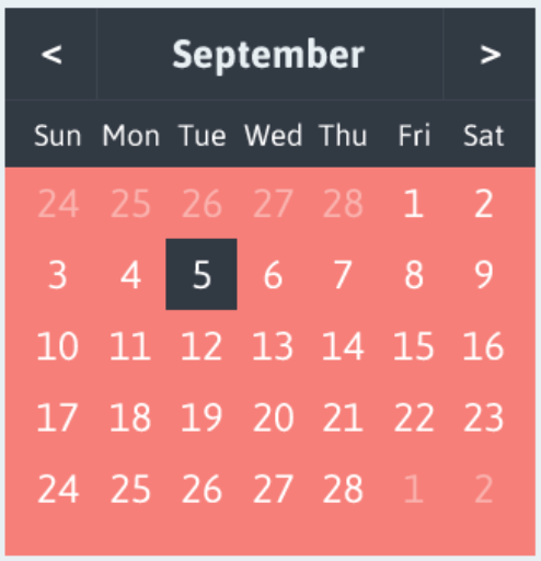 How do you write a date selector yourself?
