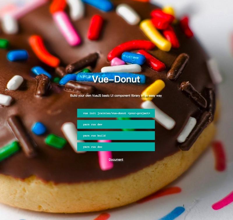 Vue-Donut-A Development Framework Special for Building Vue's UI Component Library