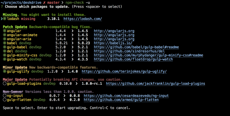 How does npm upgrade package correspond to update the version number in package.json