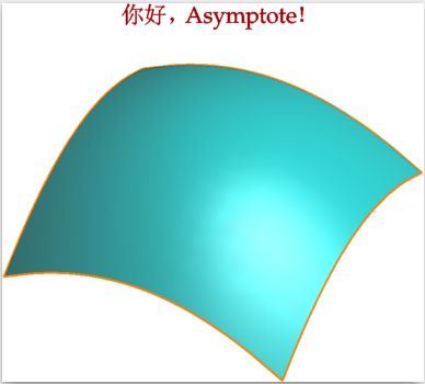 Asymptote 版本的 Hello World