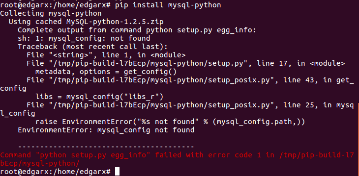 Why does installing mysql-sql with pip always report errors?