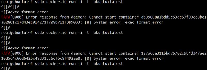 Docker Run Error under ubuntu14.04