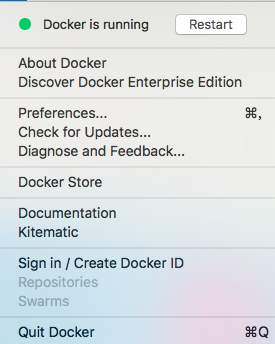 Mac docker, how to Restart Restart on the Command Line?  My service is unstable and needs to be restarted regularly. Is there any way?