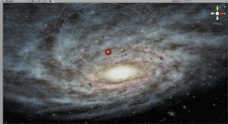模拟太阳系 - 1
