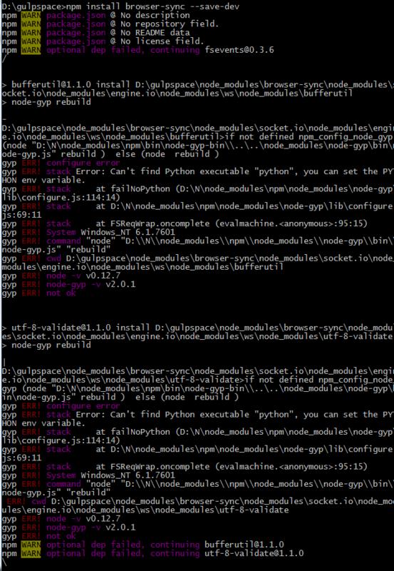 安装browser-sync