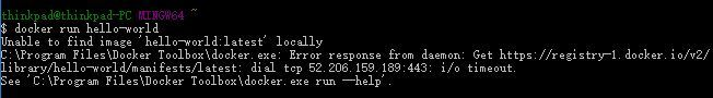 Docker in window10 failed to run docker run hello-world.