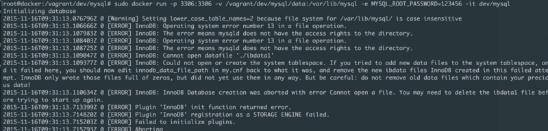 The Directory Permission Problem of Vagrant (software) Using docker under Os X?