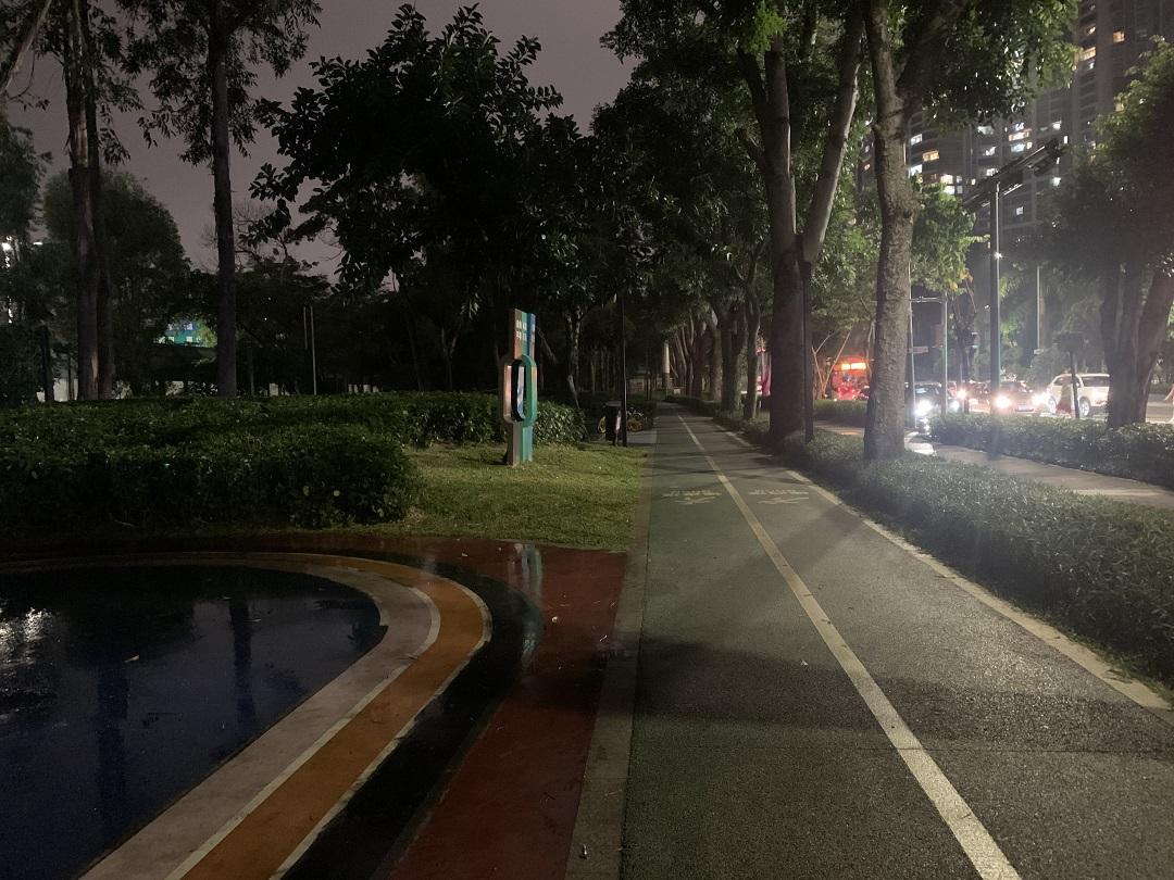 马路边的夜跑