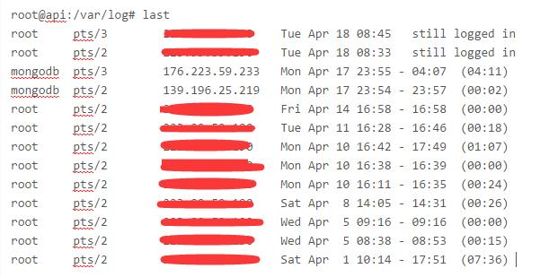 The problem of login with mongodb permission after installation of ubuntu mongodb apt.