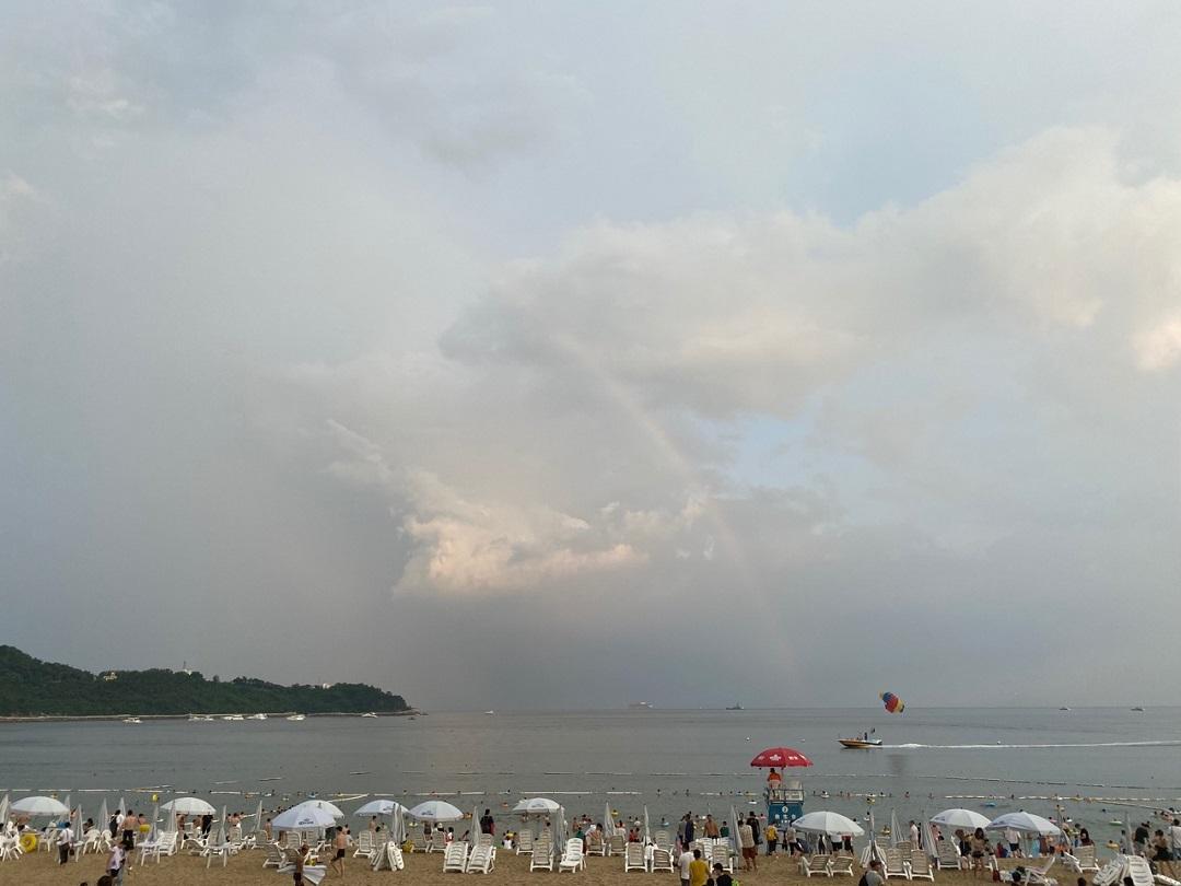 小梅沙的雨后彩虹