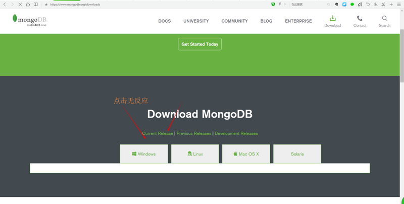 Does robomongo need to download mongodb support?  In addition, I can't download msi files on mongo's website. I use the campus network.