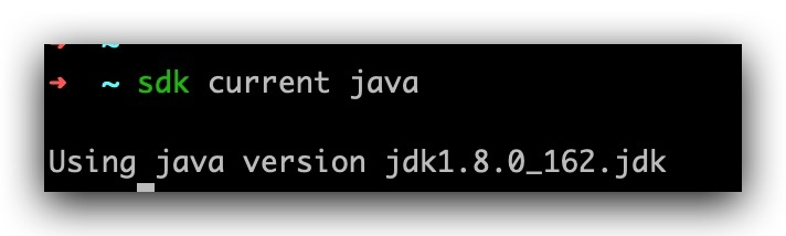 sdk current java