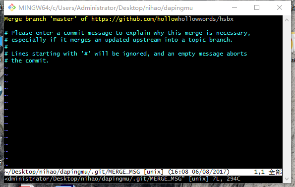 Git pull reported a mistake, but the novice was a little confused.