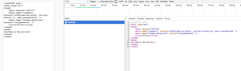 Express returns an html file. How does the front end render it?