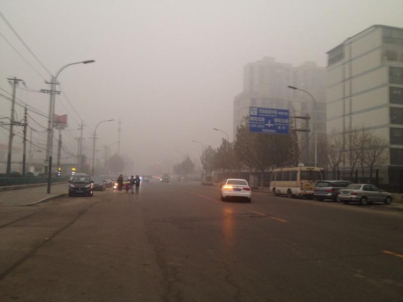 上班路上的雾霾